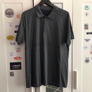 Grey Lululemon polo shirt